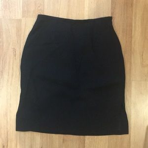 Loft black skirt size 13.5 inch waist